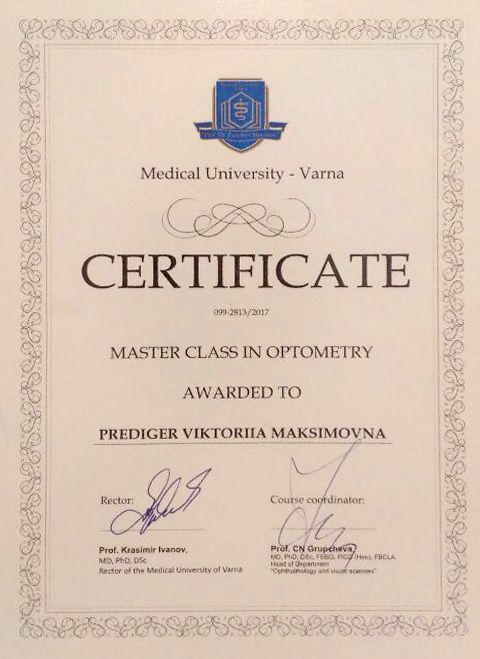 Master class in Optometry and Vision Science